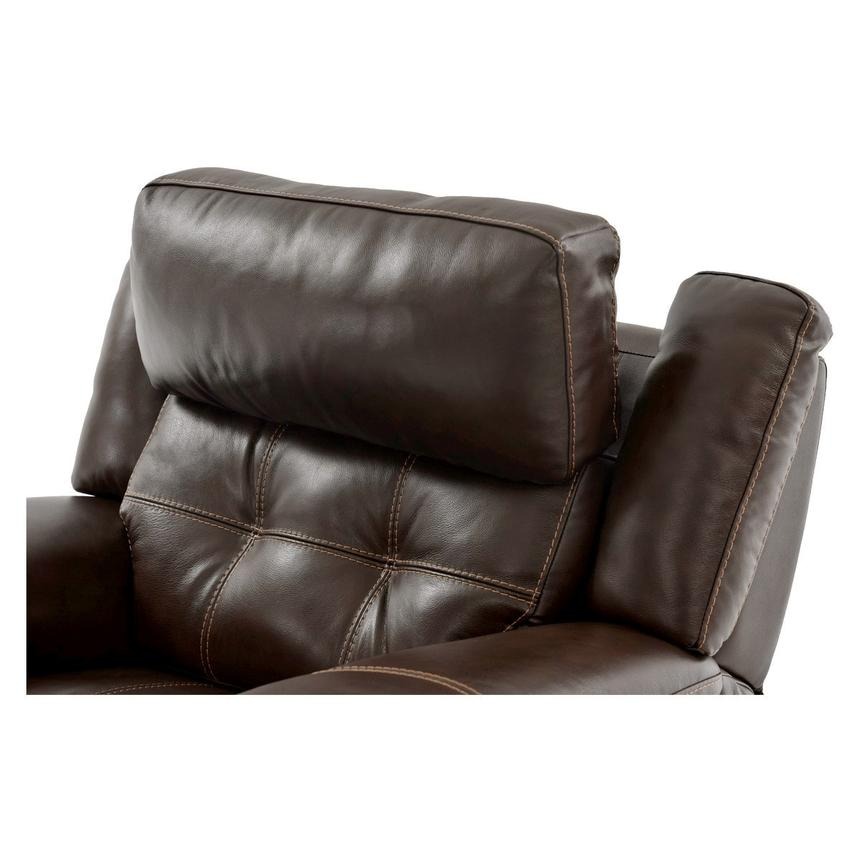 Stallion Brown Power Motion Leather Recliner  alternate image, 6 of 8 images.