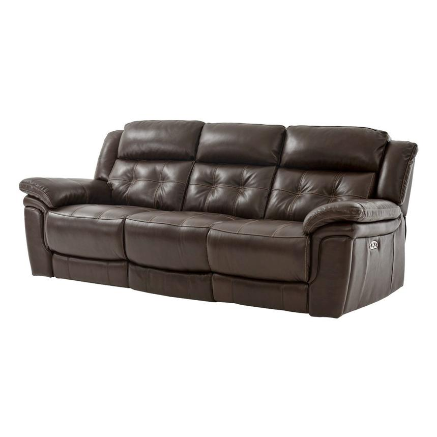 Stallion Brown Power Motion Leather Sofa  main image, 1 of 8 images.