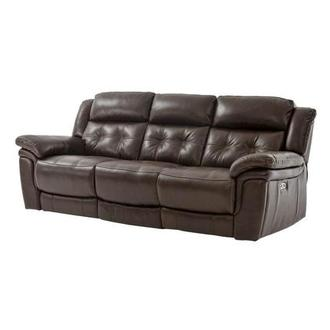 Stallion Brown Leather Power Reclining Sofa