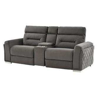 Kim Gray Power Motion Sofa w/Console