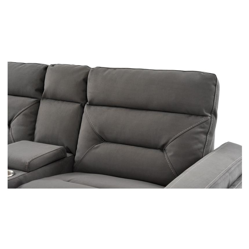 Kim Gray Power Reclining Sofa w/Console  alternate image, 11 of 14 images.