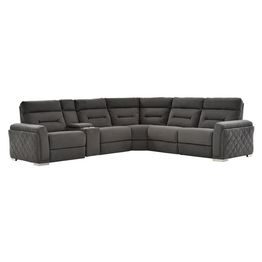 Kim Gray Motion Sofa W Right Left Recliners Main Image 1 Of