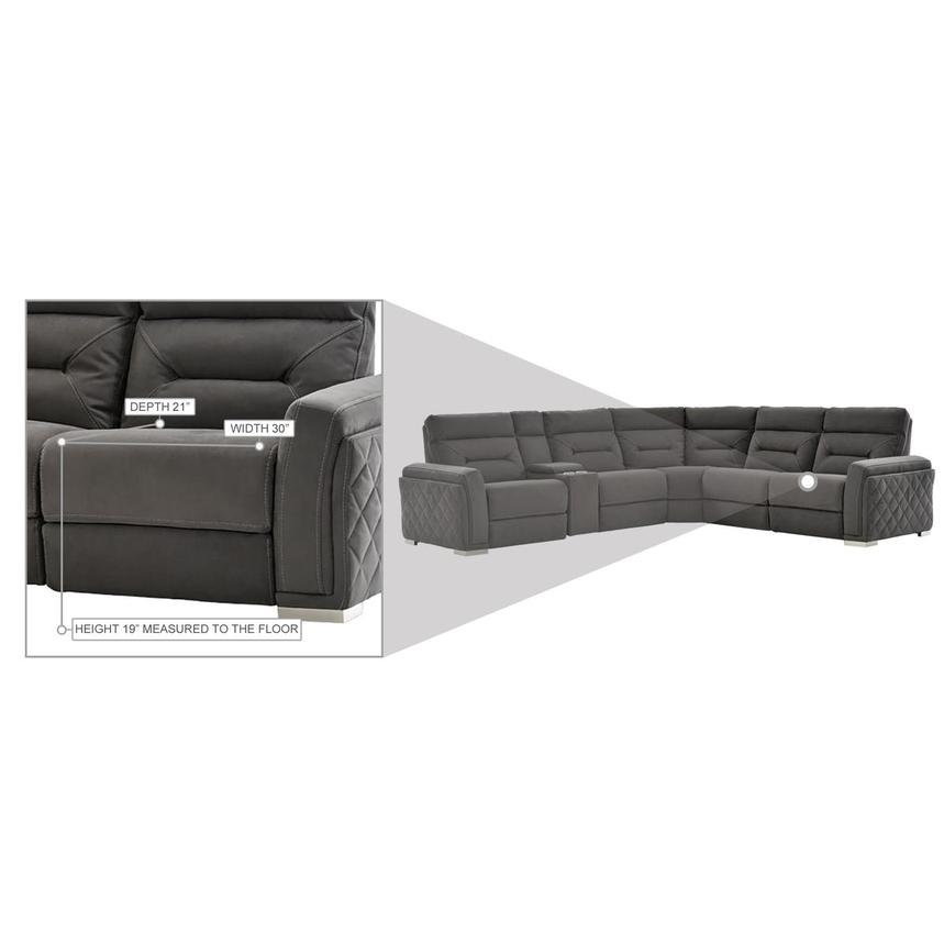 Kim Gray Power Reclining Sectional  alternate image, 14 of 15 images.