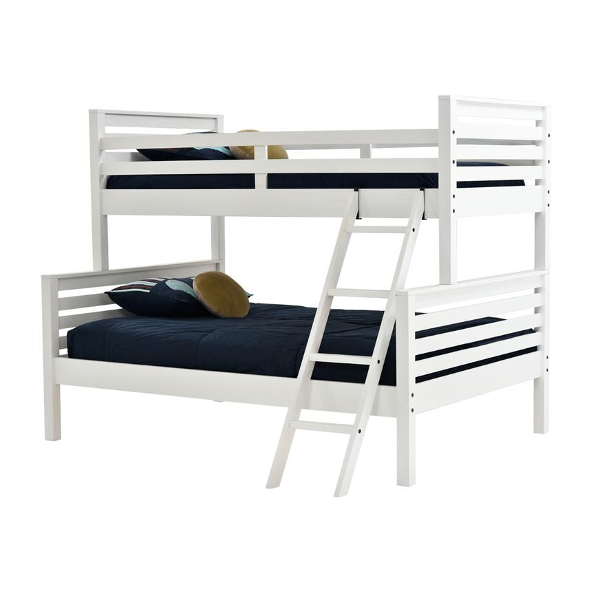 Montauk White Twin Over Full Bunk Bed Made in Brazil  main image, 1 of 7 images.