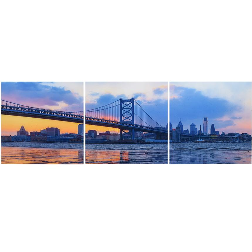 Franklin Bridge Set of 3 Acrylic Wall Art  main image, 1 of 3 images.