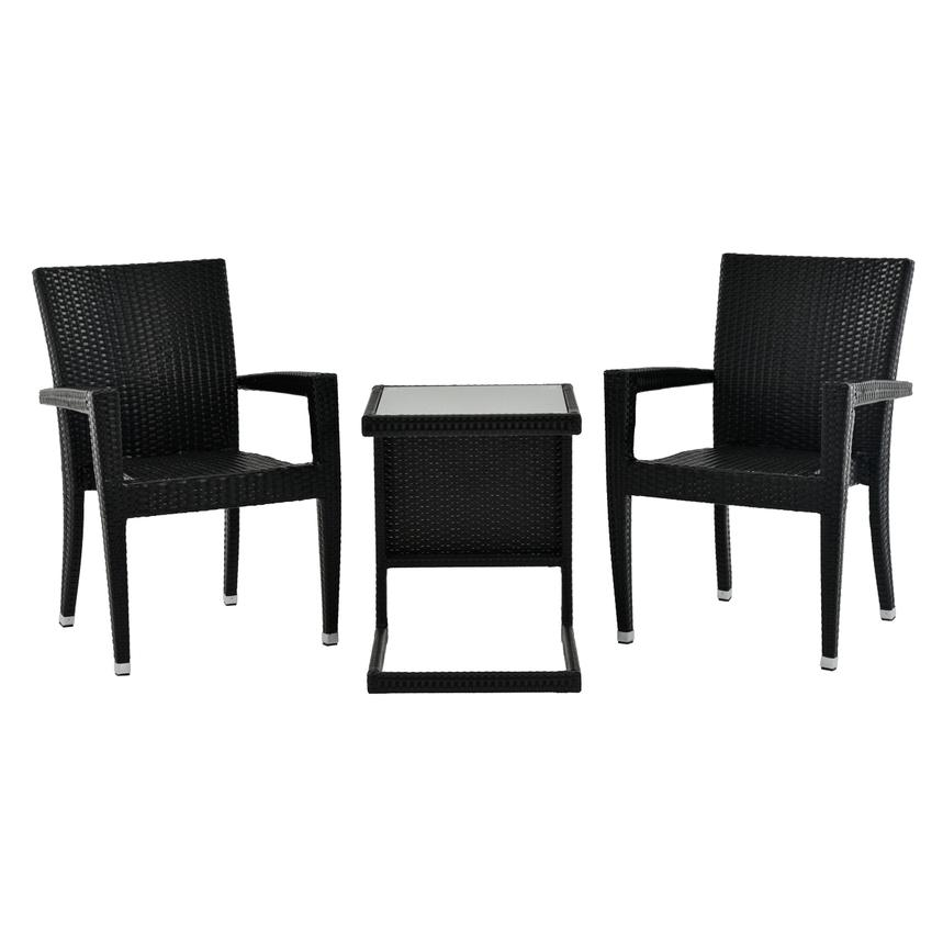 Neilina Black 3-Piece Patio Set  main image, 1 of 10 images.