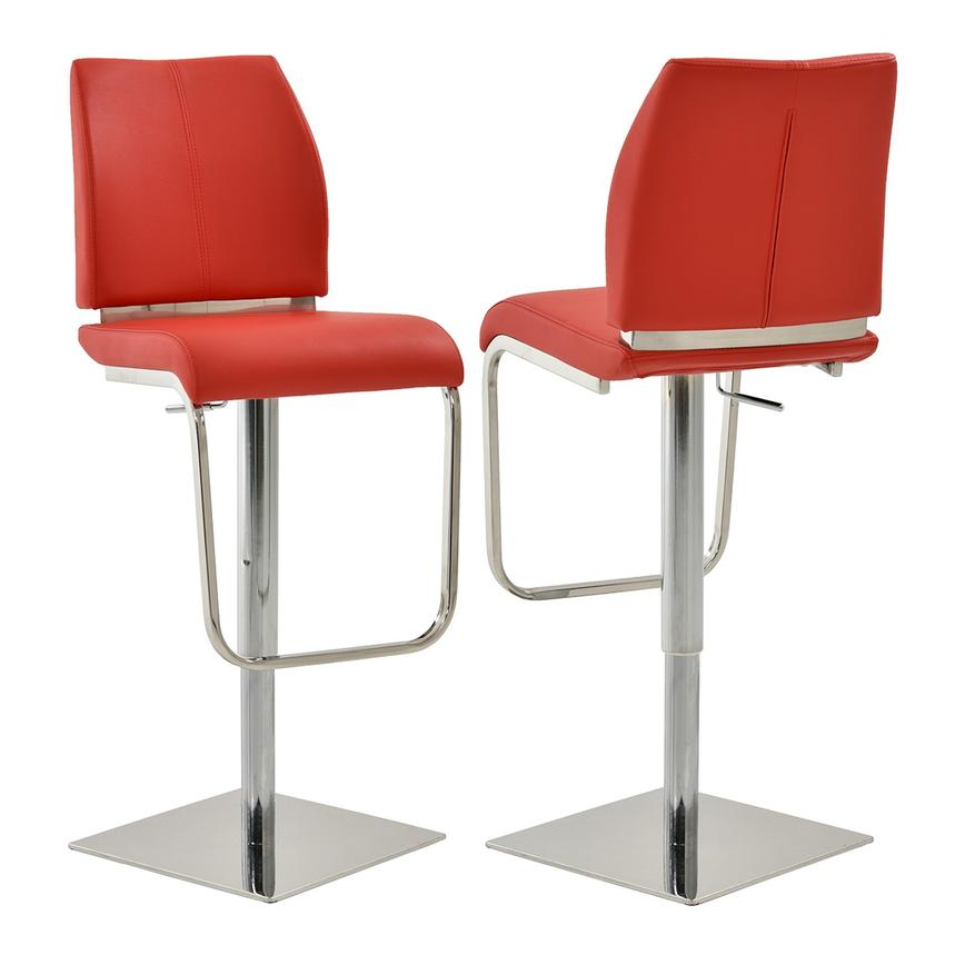 Maday Red Adjustable Stool  main image, 1 of 5 images.