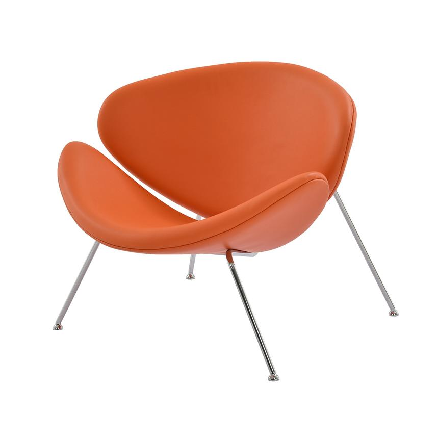 Posh Orange Accent Chair  main image, 1 of 7 images.