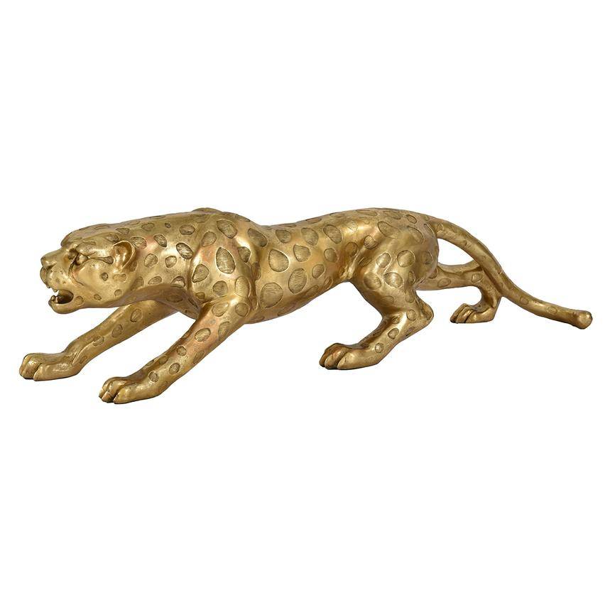 Gold Leopard Figure  main image, 1 of 3 images.