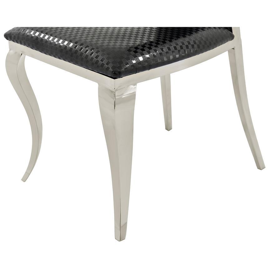 Otti Side Chair on Black Checkerboard Storage Chair