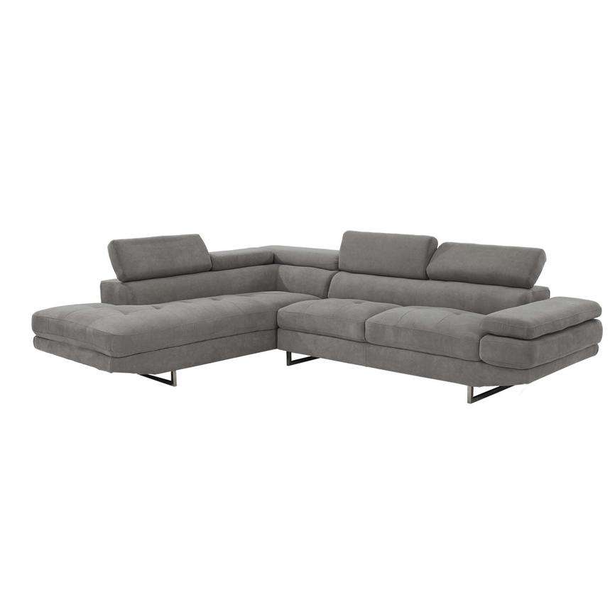 Taheri Gray Corner Sofa w/Left Chaise  alternate image, 2 of 8 images.