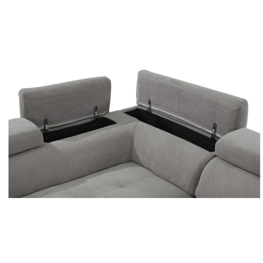 Taheri Gray Sofa w/Left Chaise  alternate image, 6 of 7 images.