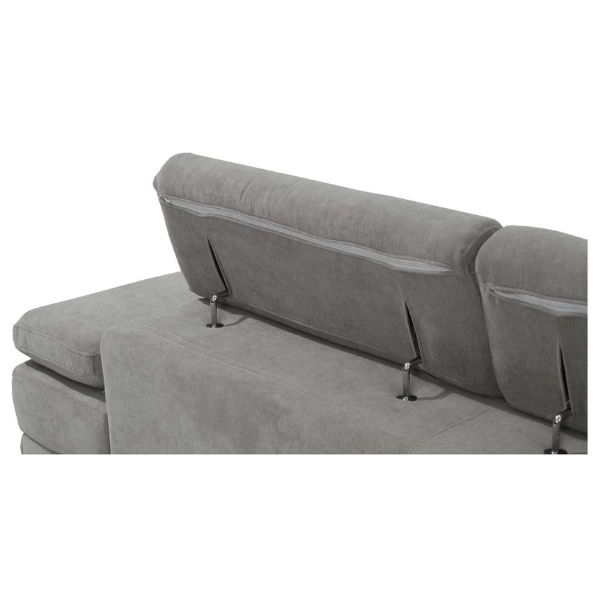 Taheri Gray Corner Sofa w/Left Chaise  alternate image, 7 of 8 images.