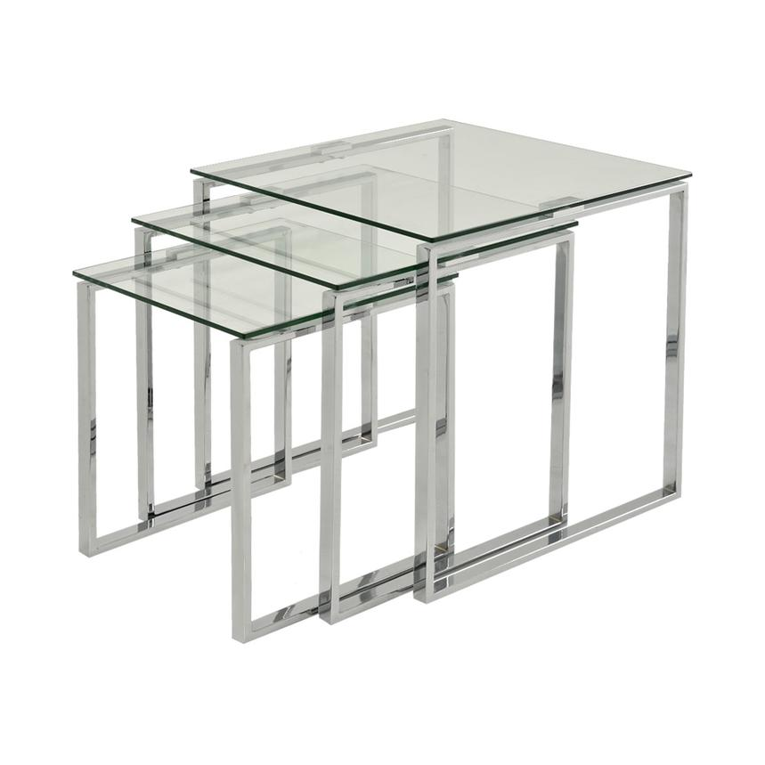 Katrine Clear Nesting Tables Set of 3  main image, 1 of 5 images.