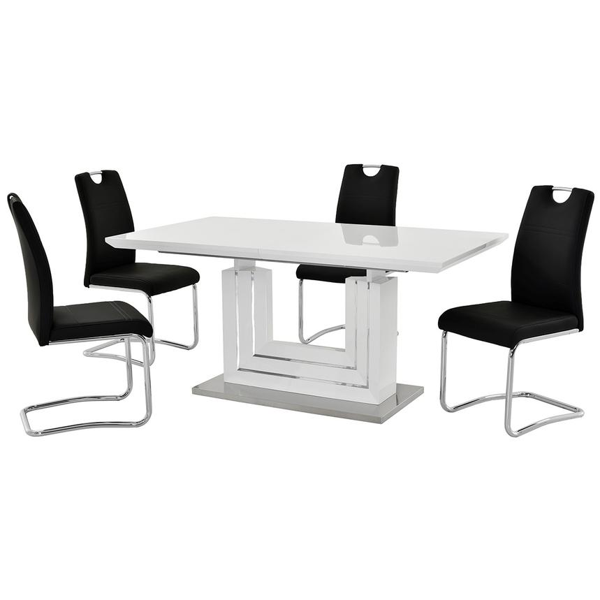 Lila Black 5-Piece Casual Dining Set  main image, 1 of 12 images.