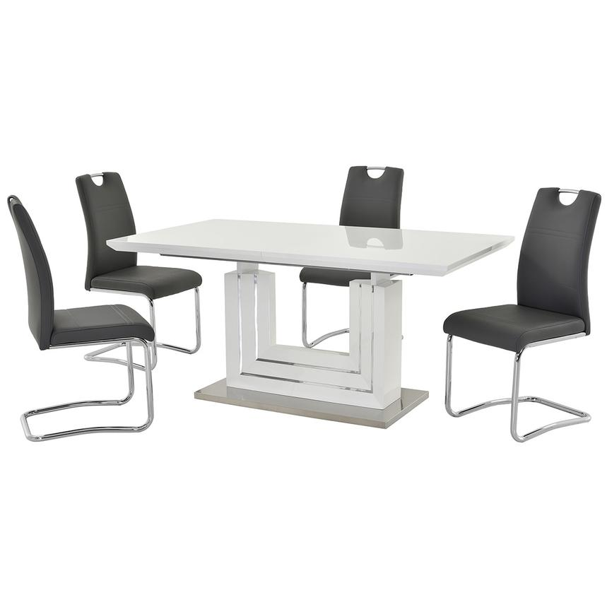 Lila Gray 5-Piece Casual Dining Set  main image, 1 of 12 images.