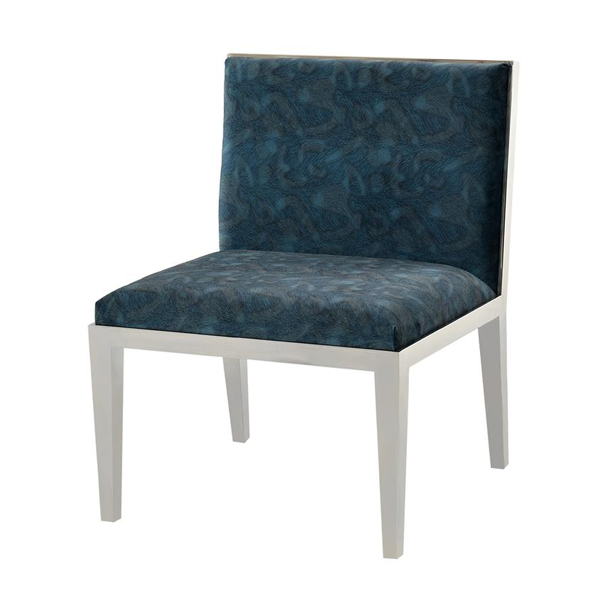Charlotte Blue Accent Chair  main image, 1 of 5 images.