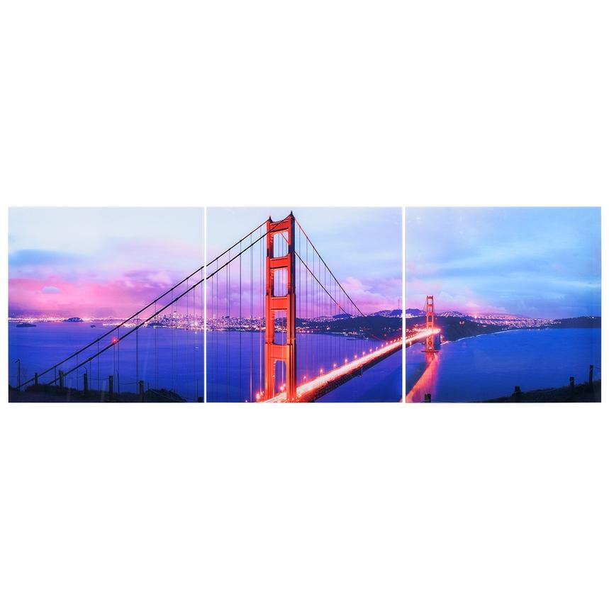 Golden Gate Set of 3 Acrylic Wall Art  main image, 1 of 3 images.