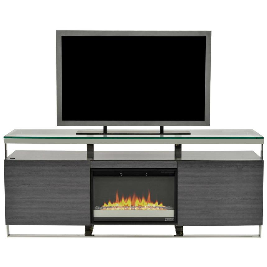 Calypso Gray Faux Fireplace w/Remote Control  main image, 1 of 6 images.