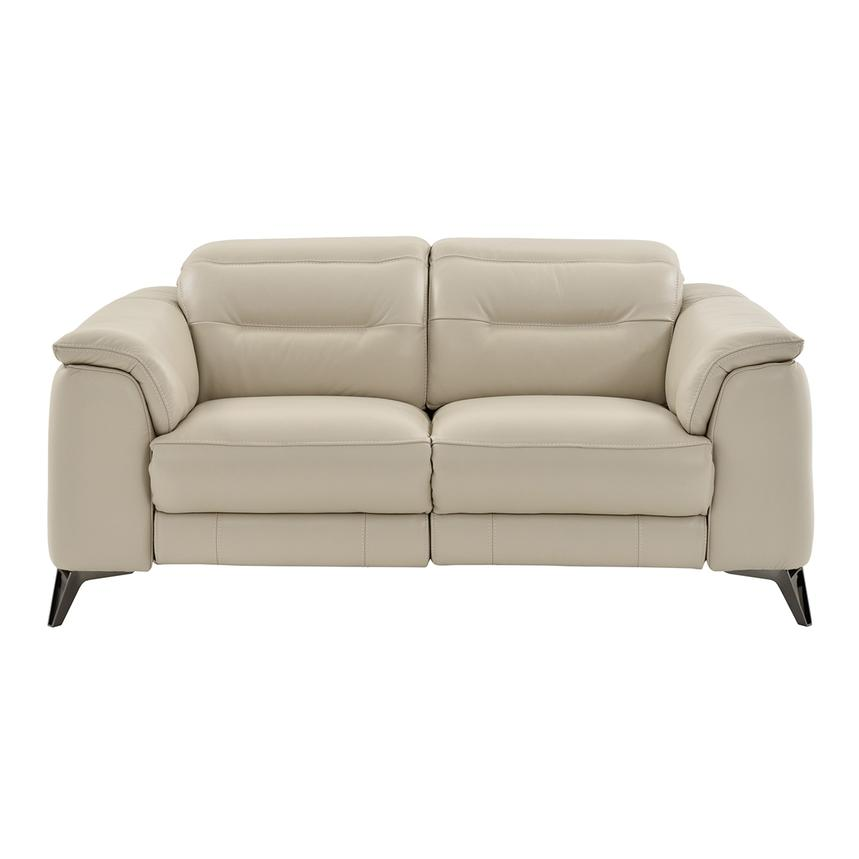 Anabel Cream Power Motion Leather Loveseat  alternate image, 3 of 11 images.