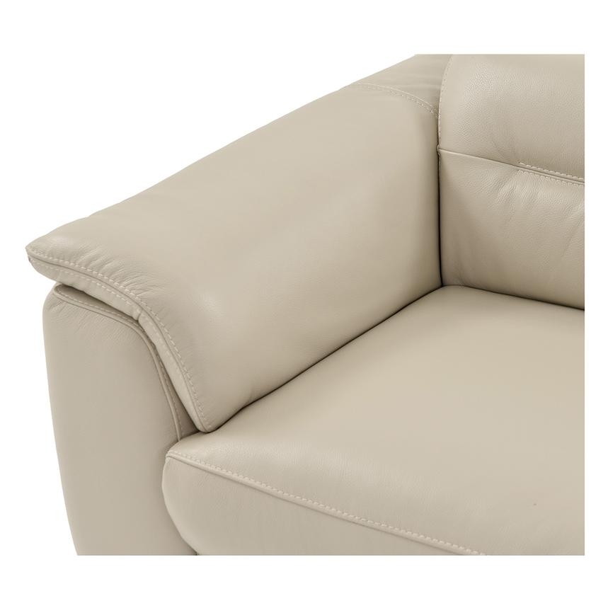Anabel Cream Leather Power Reclining Loveseat  alternate image, 5 of 11 images.