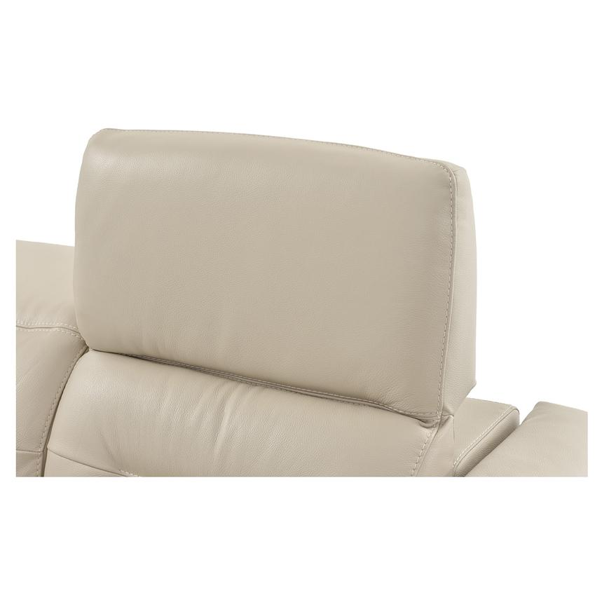 Anabel Cream Power Motion Leather Loveseat  alternate image, 8 of 11 images.