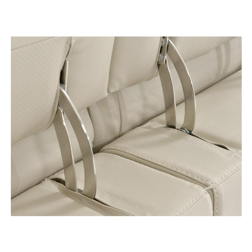 Anabel Cream Leather Power Reclining Loveseat  alternate image, 11 of 15 images.