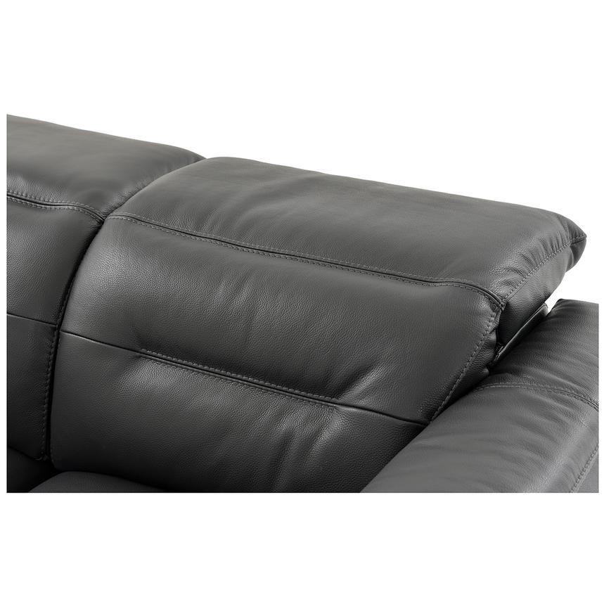 Anabel Gray Power Motion Leather Loveseat  alternate image, 6 of 9 images.