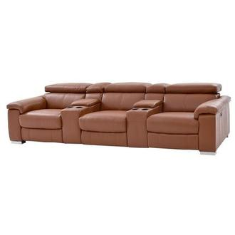 Nathan Tan Home Theater Leather Seating