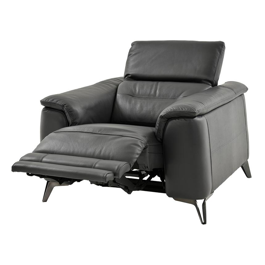 Anabel Gray Leather Power Recliner  alternate image, 4 of 14 images.
