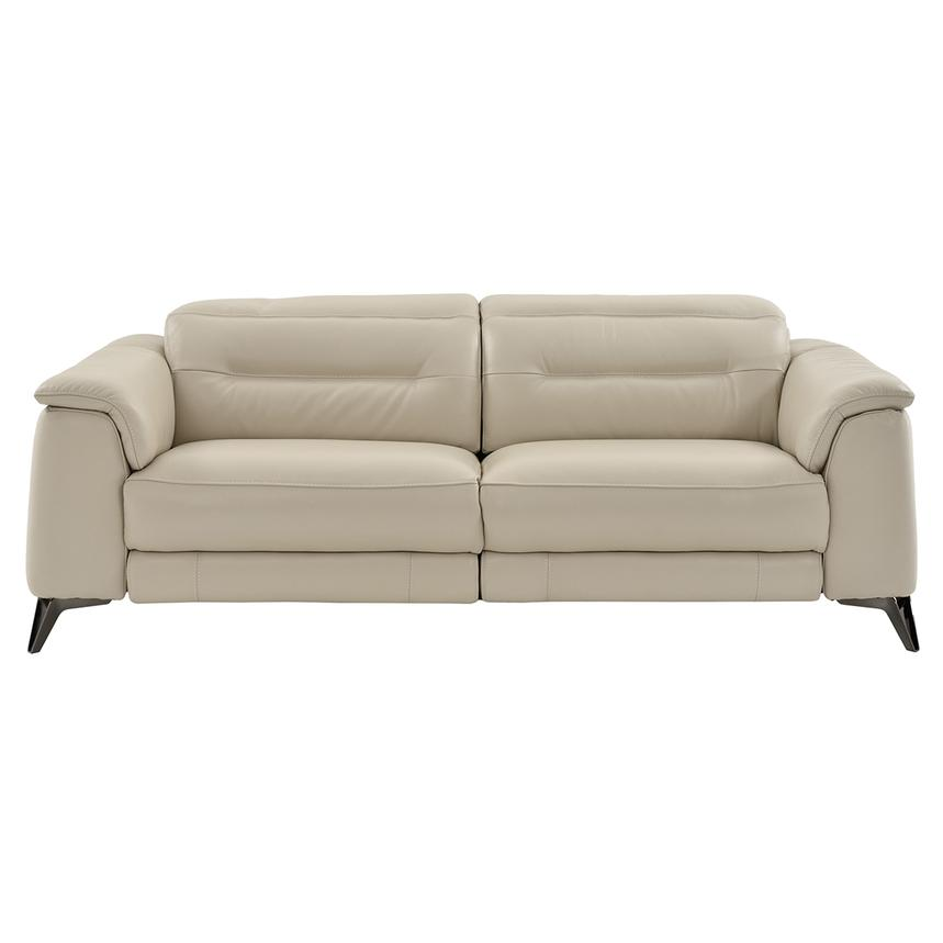 Anabel Cream Power Motion Leather Sofa  alternate image, 3 of 11 images.
