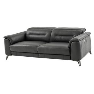 Anabel Gray Leather Power Reclining Sofa