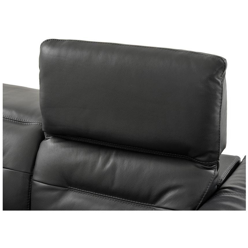 Anabel Gray Leather Power Reclining Sofa  alternate image, 11 of 15 images.