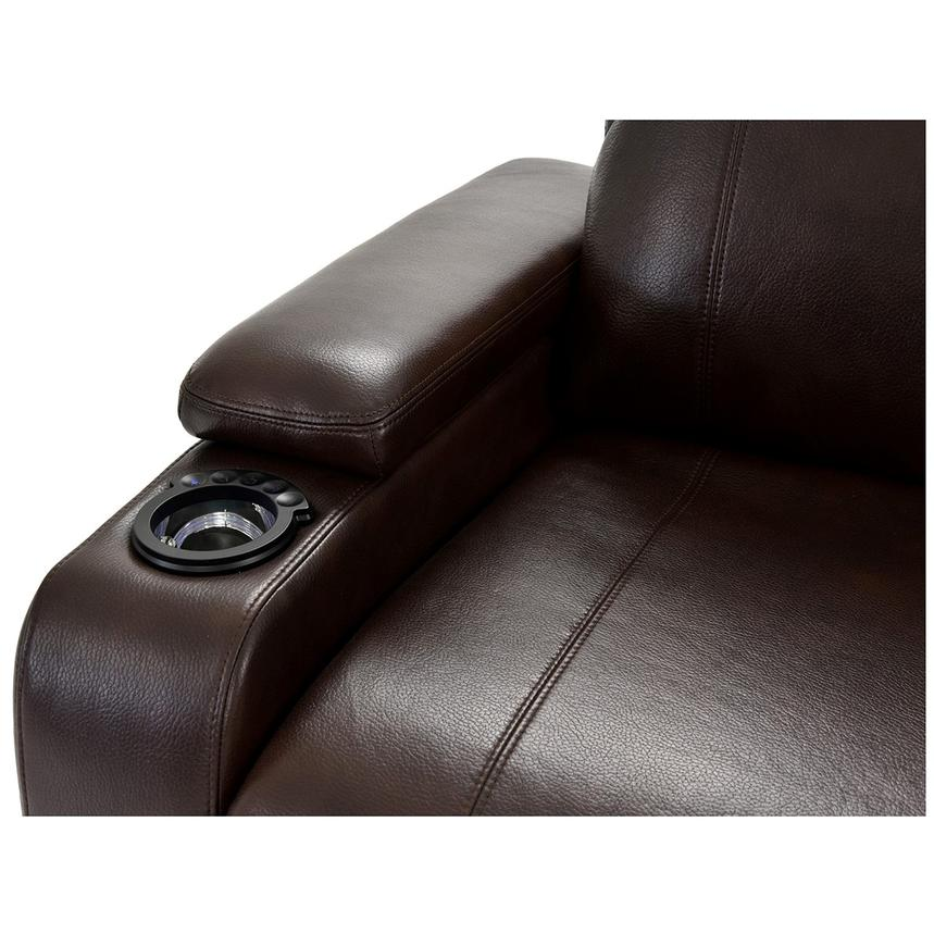 Magnetron Brown Power Motion Sofa w/Right & Left Recliners  alternate image, 6 of 12 images.