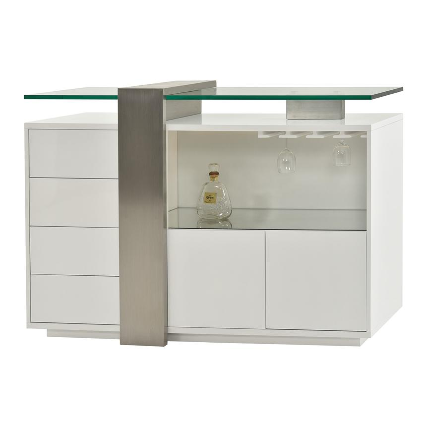 Totem White Bar Cabinet  main image, 1 of 7 images.
