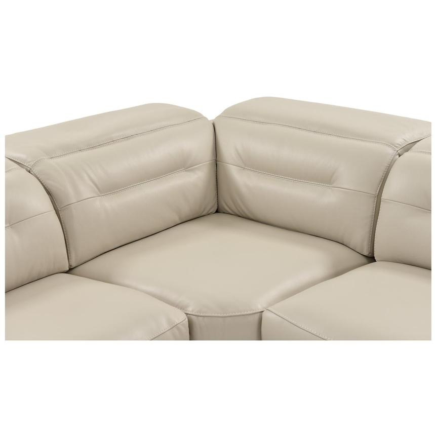 Anabel Cream Leather Power Reclining Sectional  alternate image, 10 of 16 images.