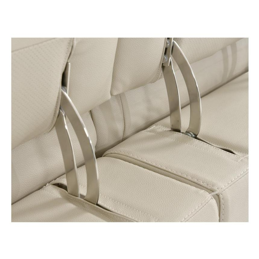Strange Anabel Cream Leather Power Reclining Sectional Bralicious Painted Fabric Chair Ideas Braliciousco