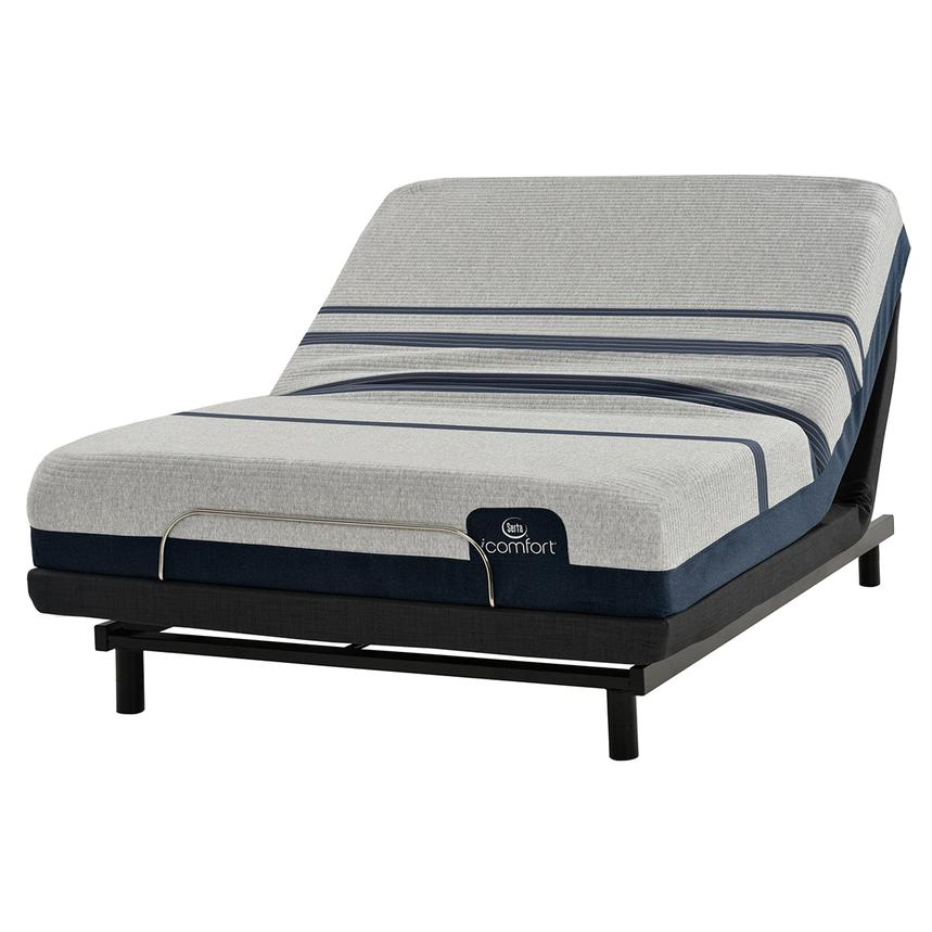 iComfort Blue 300 Queen Mattress w/Essentials III Powered Base by Serta  main image, 1 of 2 images.