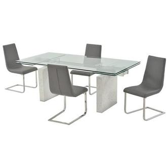 Industria/Lea Gray 5-Piece Dining Set