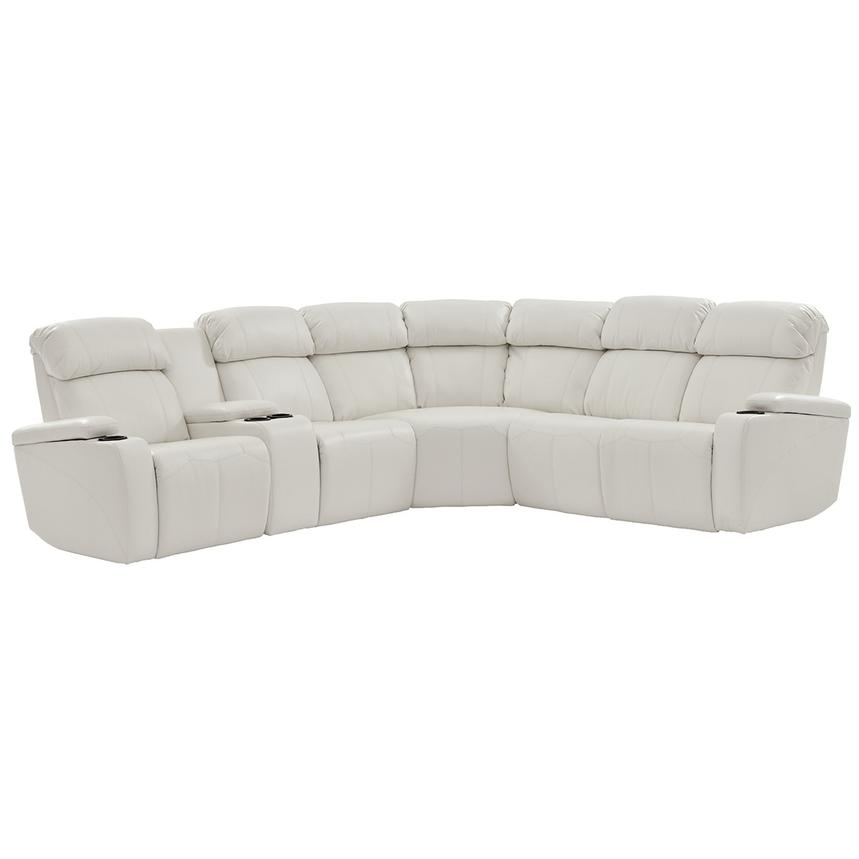 Magnetron White Power Motion Sofa w/Right & Left Recliners  main image, 1 of 12 images.