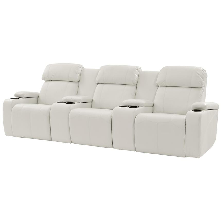 Magnetron White Home Theater Seating  main image, 1 of 10 images.