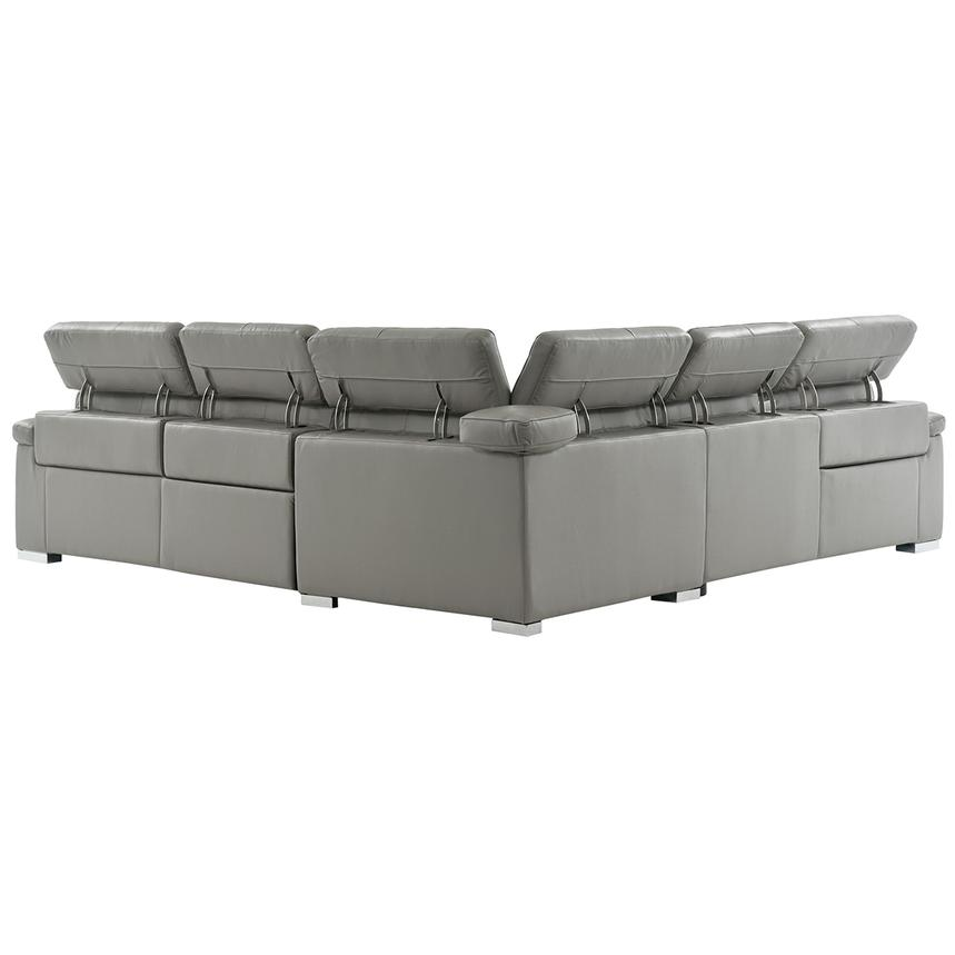Charlie Gray Leather Power Reclining Sectional  alternate image, 4 of 12 images.