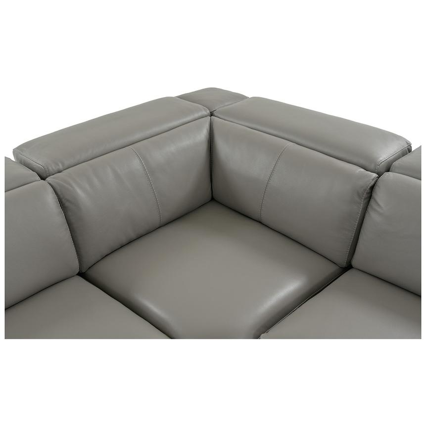 Charlie Gray Power Motion Leather Sofa w/Right & Left Recliners  alternate image, 5 of 10 images.