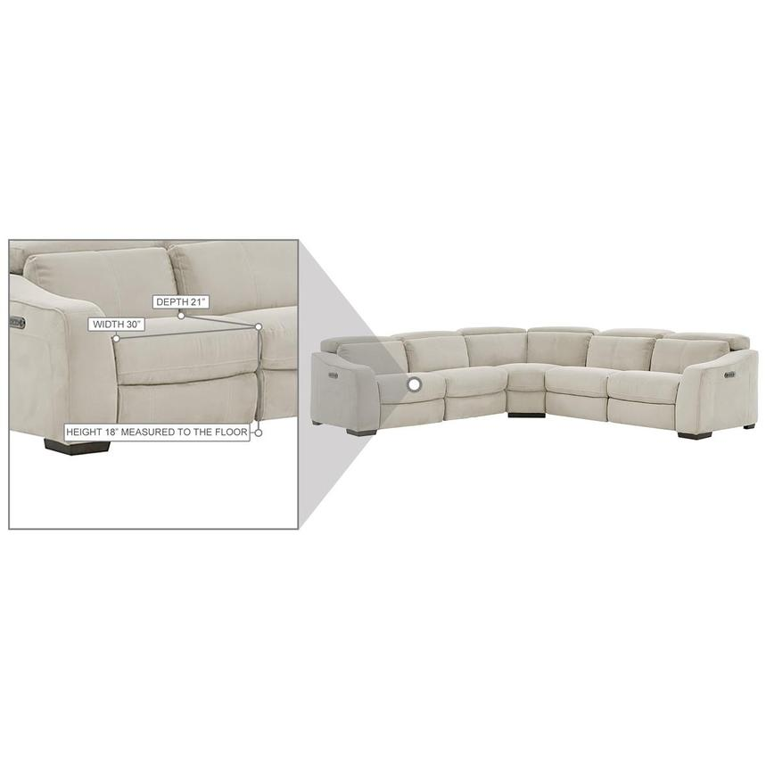 Jameson White Power Reclining Sectional  alternate image, 10 of 10 images.