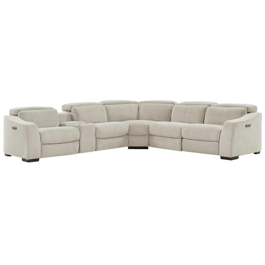 Jameson White Power Motion Sofa w/Right & Left Recliners  main image, 1 of 9 images.