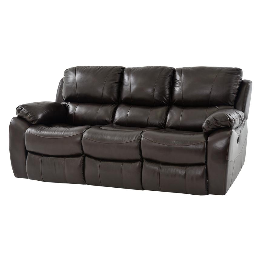 Mack Brown Power Motion Leather Sofa  main image, 1 of 6 images.