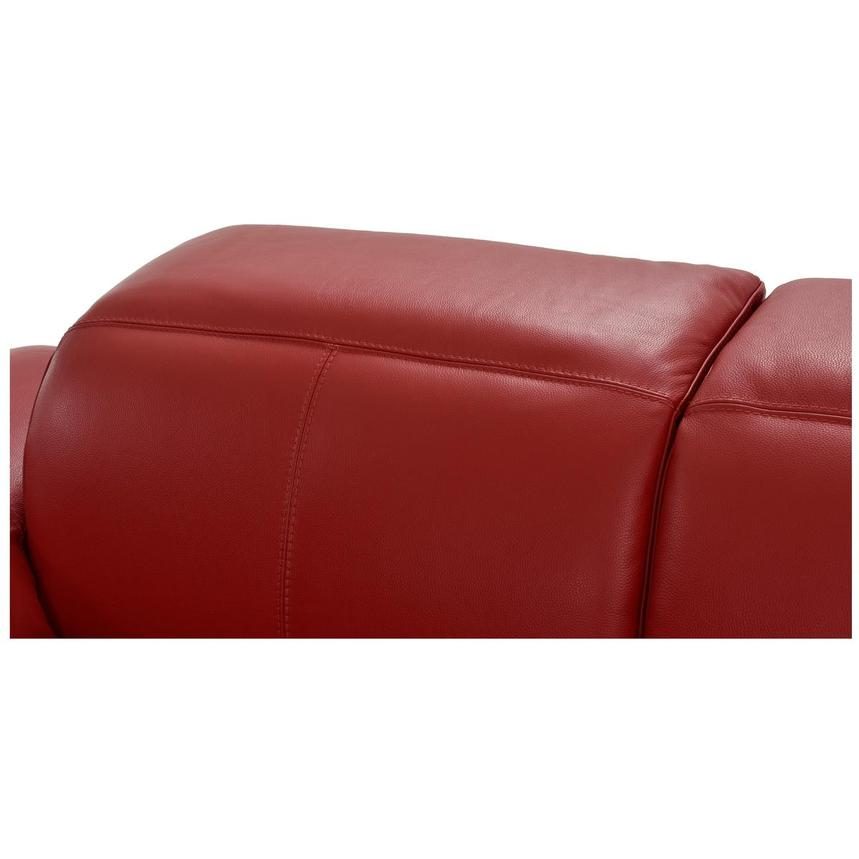 Toronto Red Leather Power Reclining Sofa w/Right Chaise  alternate image, 9 of 13 images.