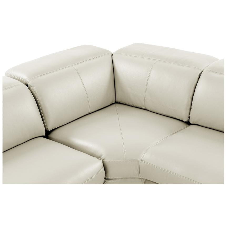 Toronto White Leather Power Reclining Sofa w/Right Chaise  alternate image, 4 of 11 images.