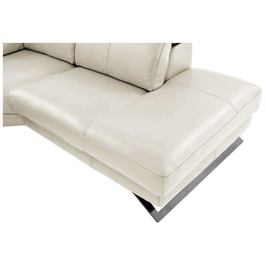 Toronto White Leather Power Reclining Sofa w/Right Chaise  alternate image, 9 of 11 images.