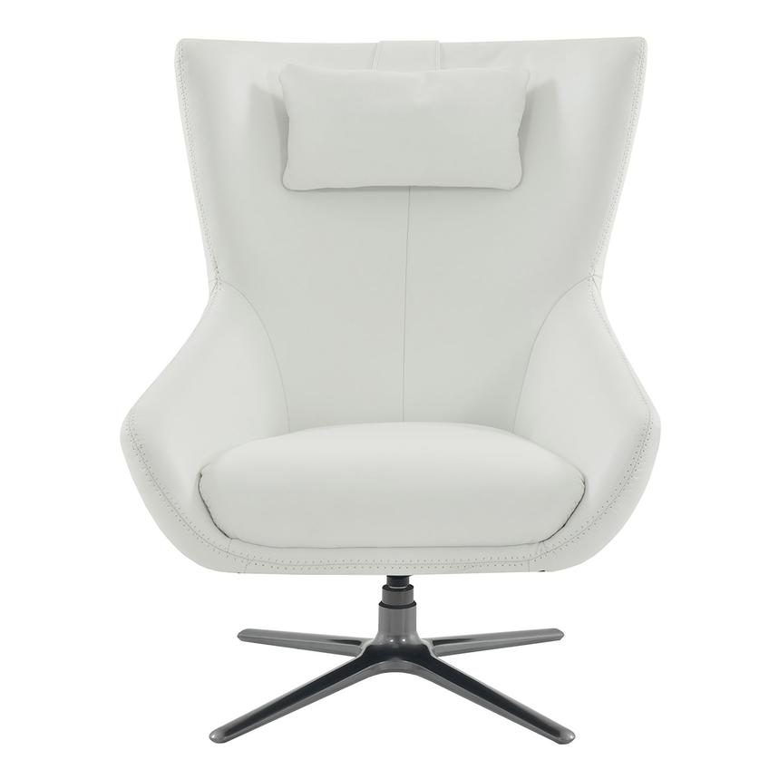 Terrific Clara White Leather Swivel Chair Squirreltailoven Fun Painted Chair Ideas Images Squirreltailovenorg